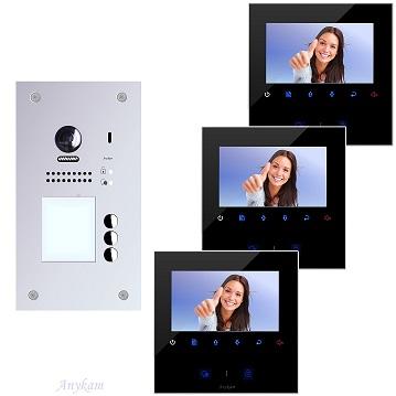 607F-S3 DT43B Video Türsprechanlage Videosprechanlage 3-Familienhaus 2Draht