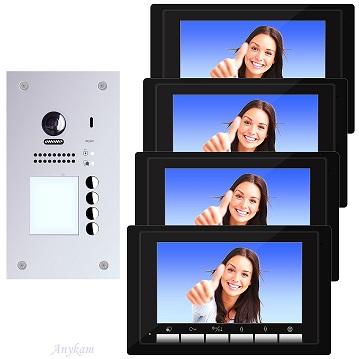 DT607F-S4 DT17-B Video Türsprechanlage Videosprechanlage 4-Familienhaus 2Draht