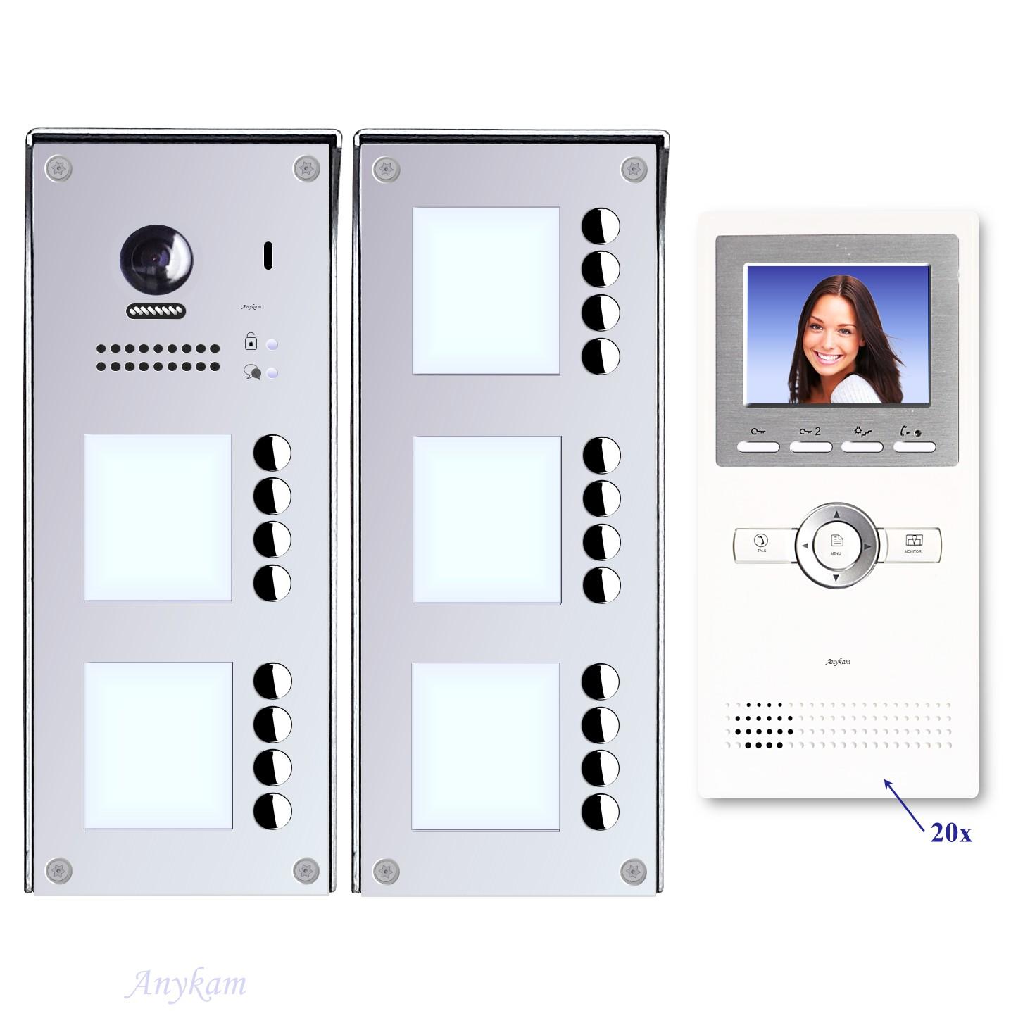 Video Türsprechanlagen mit Kamera 2-draht 9-32-familienhaus mit Edelstahl Klingel 608idfe-S9-32 Aufputzmontage