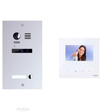 ES1m+ 1xDX439 Video Türsprechanlage Videosprechanlage 1-Familienhaus 2Draht