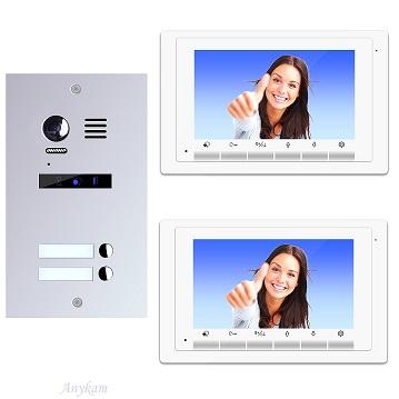 ES2m+ 2xDT17W Video Türsprechanlage Videosprechanlage 2-Familienhaus 2Draht