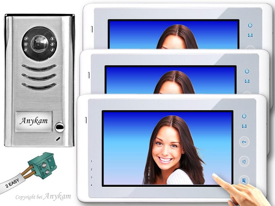 dt591 3xdt27w video t rsprechanlage gegensprechanlage kamera klingel 2 draht. Black Bedroom Furniture Sets. Home Design Ideas