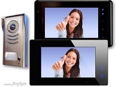 DT591+DT47MB + 27B Video Türsprechanlage Klingel mit 2 Monitore Bildspeicher