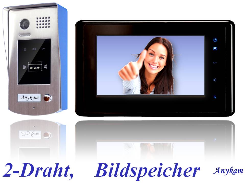 video t rsprechanlage 2draht gegensprechanlage speicher rfid card dt596id 27sdb ebay. Black Bedroom Furniture Sets. Home Design Ideas