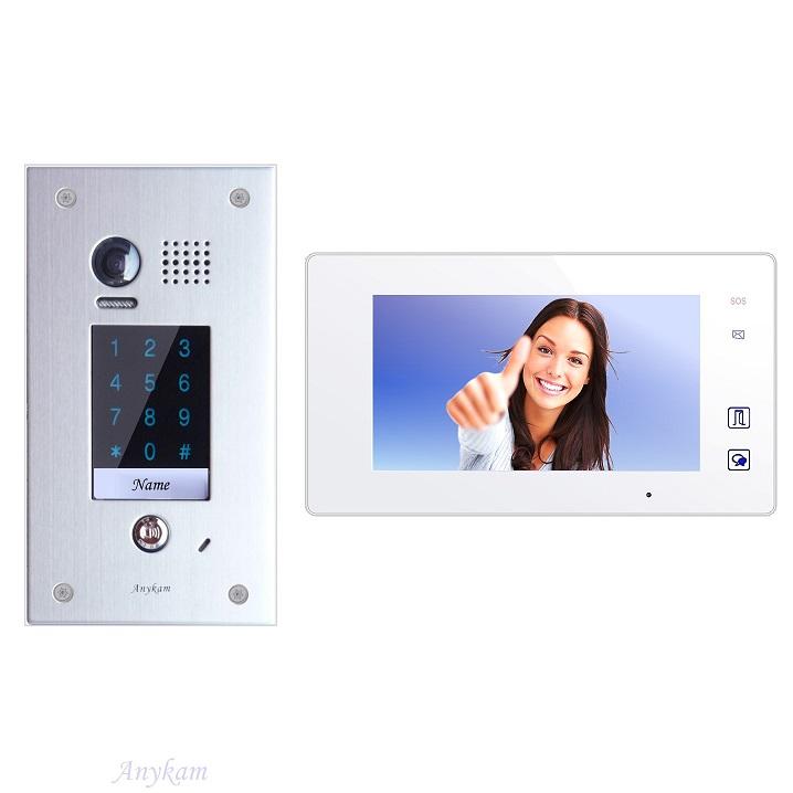 Video Türsprechanlagen 2draht Türöffnung mit Code Unterputz Aussenstation DT601F-kp-fe