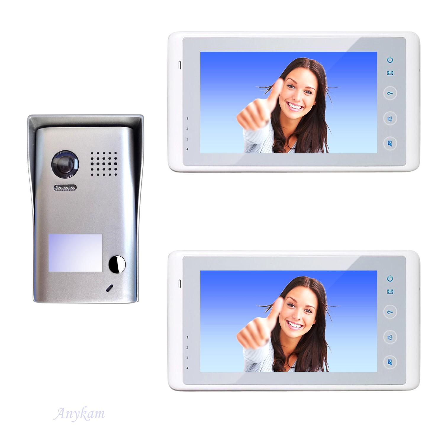 Design Farb Video Türsprechanalge Videosprechanlage Gegensprechanlage Klingelanlage Interfon mit 2-Draht Technik