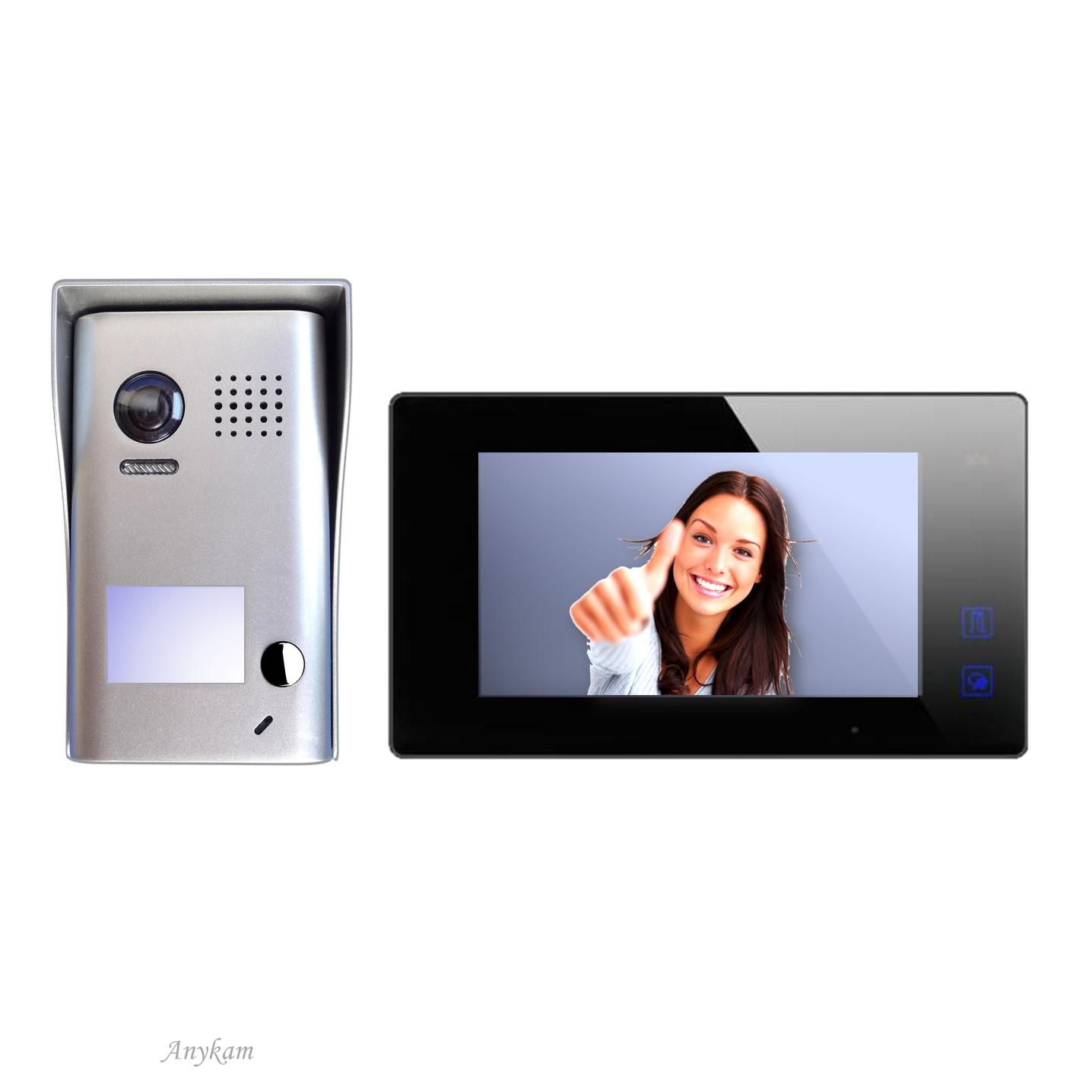 DT602 mit DT47MB Design Farb Video Türsprechanalge Videosprechanlage Gegensprechanlage Klingelanalge Interfon mit 2-Draht Technik