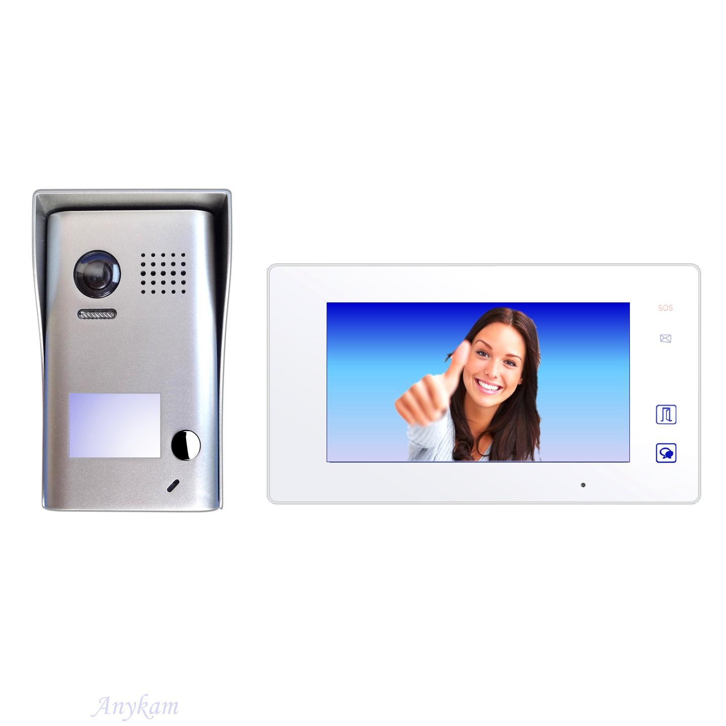 DT602 mit DT47MW Design Farb Video Türsprechanalge Videosprechanlage Gegensprechanlage Klingelanalge Interfon mit 2-Draht Technik