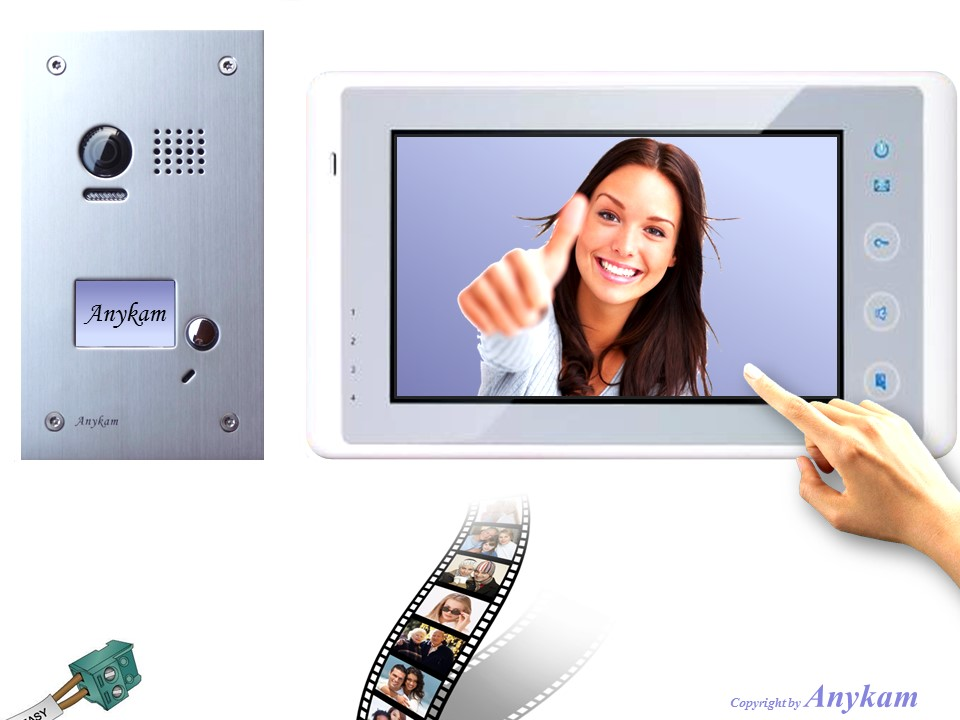 dt603 dt27sd w videosprechanlage t ranlage video gegensprechanlage 2 draht. Black Bedroom Furniture Sets. Home Design Ideas