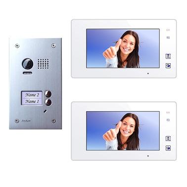 DT603D+ 2x DT47M-W Video Türsprechanlage Klingelanlage Kamera 2-Familienhaus