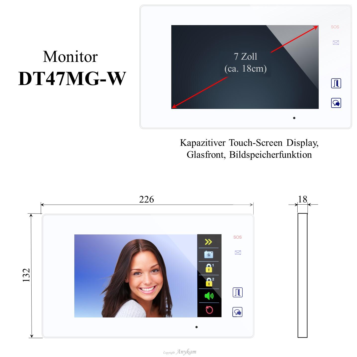 Innenstation der Videosprechanlage mit 2Draht Technik