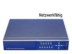 4-KANAL Langzeit Festplatten Rekorder 4x Video + 4x Audio H.264 SEDVR-6304AD