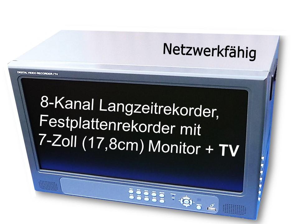 4-Kanal Langzeitrekorder Festplattenrekorder Aufzeichnungsgerät