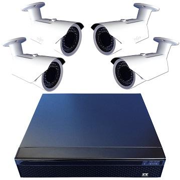 Komplettset Überwachung FESTPLATTENREKORDER 2104 und 4 Nachtsichkameras