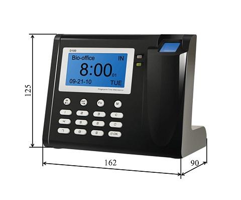 Zeiterfassungsgerät mit Fingerprint maße