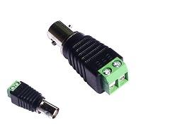 BNC-female zu 2-Pol Adapter von Video Koax RG59 BNC Stecker auf Schraubklemmen